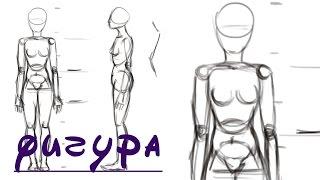 Как Рисовать Фигуру Человека(Показываю, как рисовать фигуру, тело человека в фотошопе. Более подробные видео будут посвящены отдельным..., 2016-08-18T06:12:58.000Z)