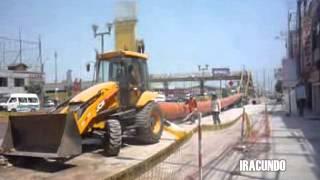 Avance  de obras de LINEA 2 DEL METRO DE LIMA- Carretera Central