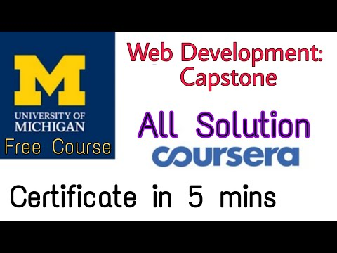 Full Answers Of Web Design For Everybody Capstone University Of Michigan Coursera Specialization Youtube