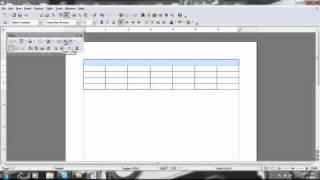 Création et Modification de Tables à l'Aide d'Open Office Writer
