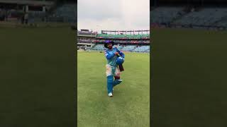 Rishabh Pant heads out for a net session!