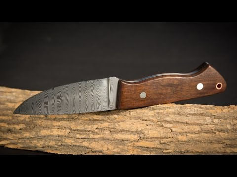 How to Make Damascus Steel Pt. 2:  Ladder Pattern