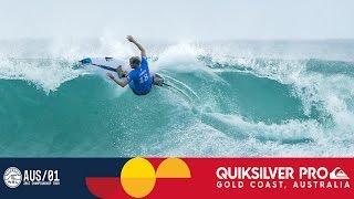 Wilkinson vs. Kennedy vs. Gouveia - Quiksilver Pro Gold Coast 2017 Round One, Heat 2
