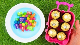 Mixing CANDY in Pool w/ Singing Nursery Rhymes Johny Johny Yes Papa!