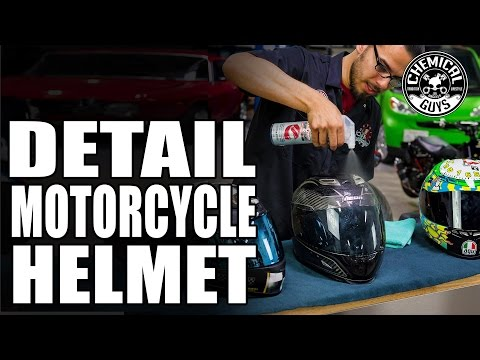 How To Clean & Protect Motorcycle Helmets - Chemical Guys Clear Vision Helmet Cleaner & Protectant