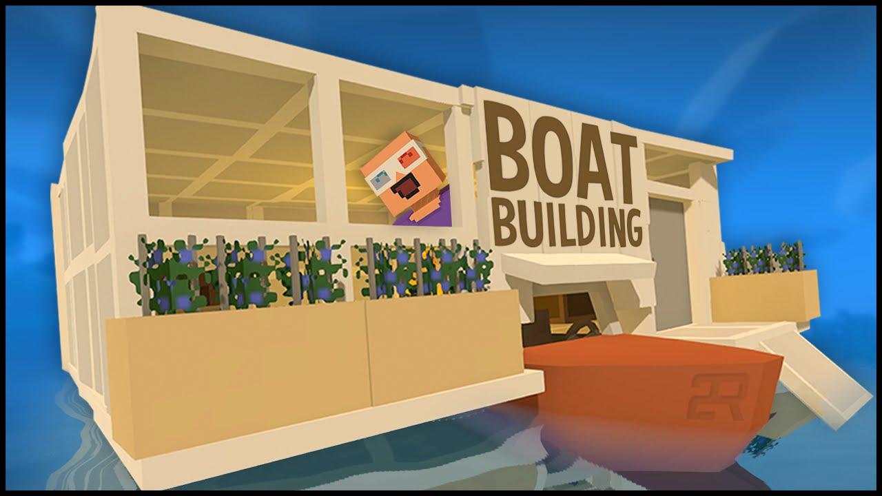Unturned  Building CUSTOM HOUSE BOAT BASE YouTube - Custom designed houseboat graphics