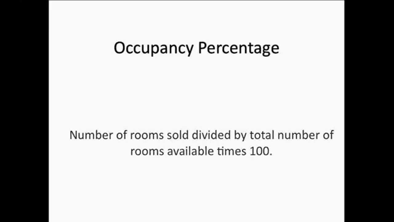 how to calculate hotel occupancy percentage youtube