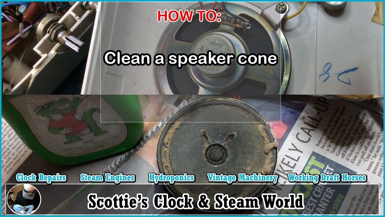 How To clean speaker cones from a flip clock #FlipClockRepairs  #ScottiesClockWorld