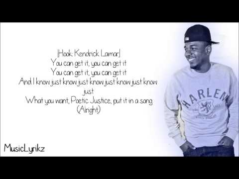 Kendrick Lamar - Poetic Justice ft. Drake (Lyric Video)