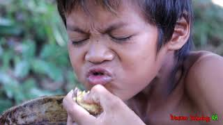Primitive Technology - Eating delicious - Awesome cooking baby egg ducks