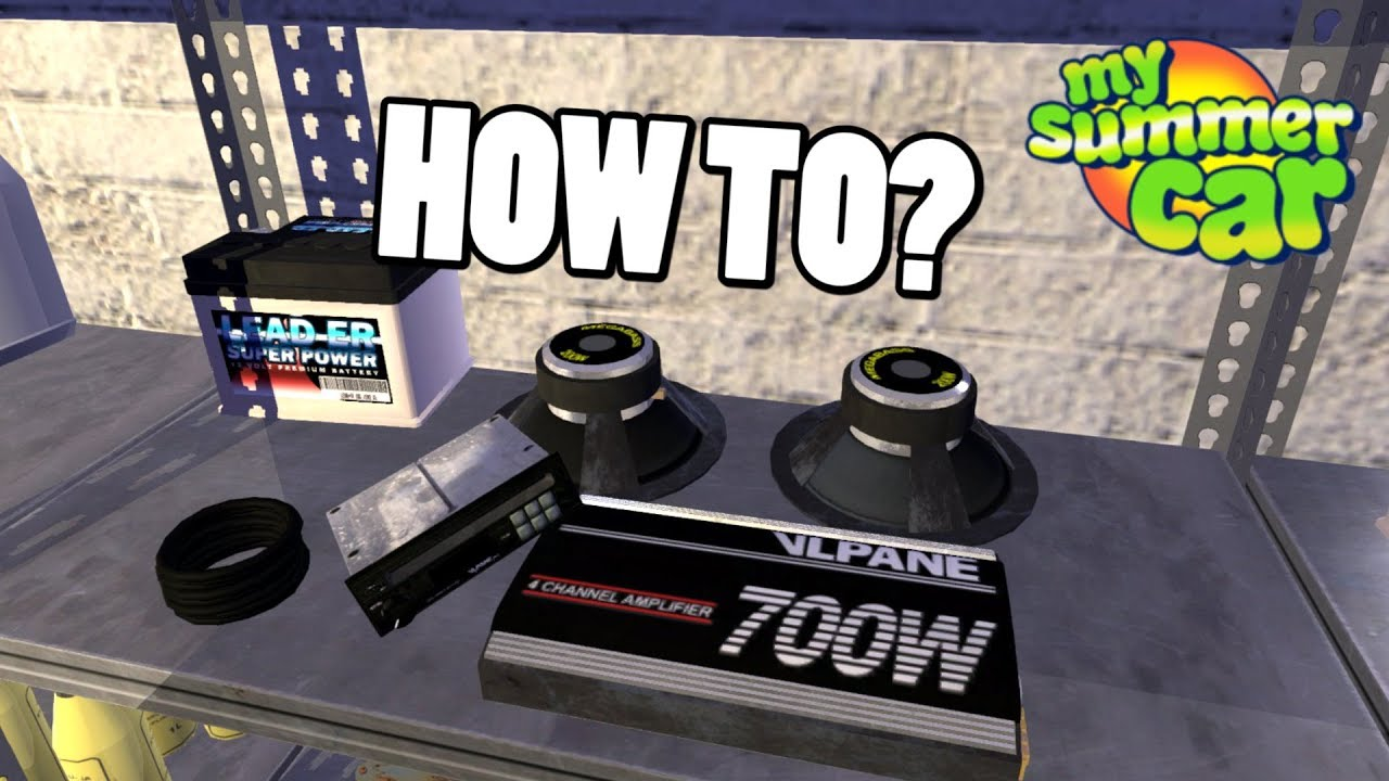 How To Install Amplifier Subwoofers My Summer Car Youtube