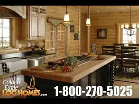 Luxury Log Home Cabin Kitchens Youtube