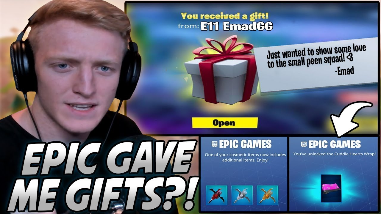 Tfue Was SHOCKED After Getting RANDOM Gifts From Epic AND ...