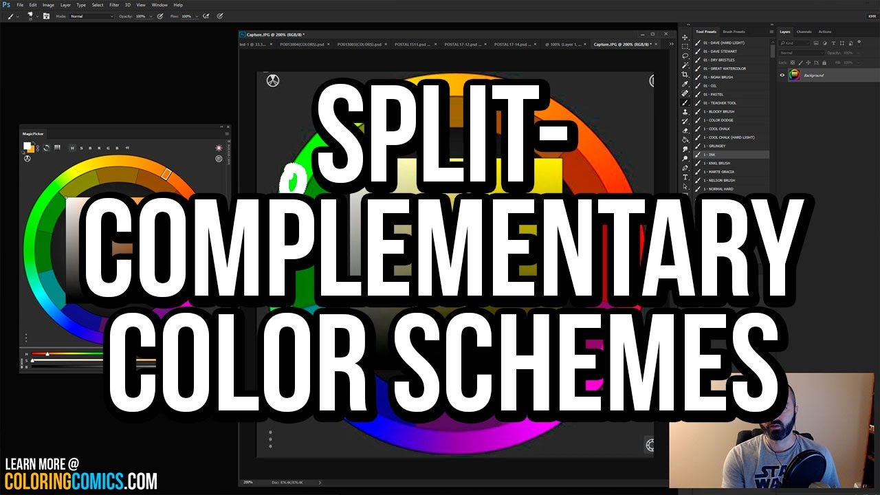 What Are Split Complementary Color Schemes A Photoshop Comic Book Coloring Tutorial