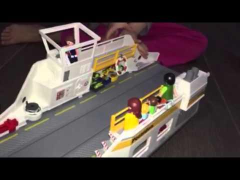 une journ e dans le bateau de croisi re playmobil youtube. Black Bedroom Furniture Sets. Home Design Ideas