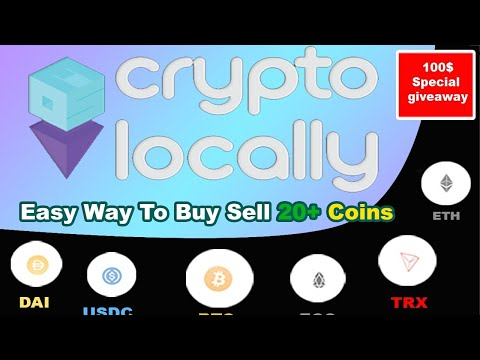 CryptoLocally:- P2P trading in more then 20+ coins | Live Buy & Sell USDT | 100$ giveaway