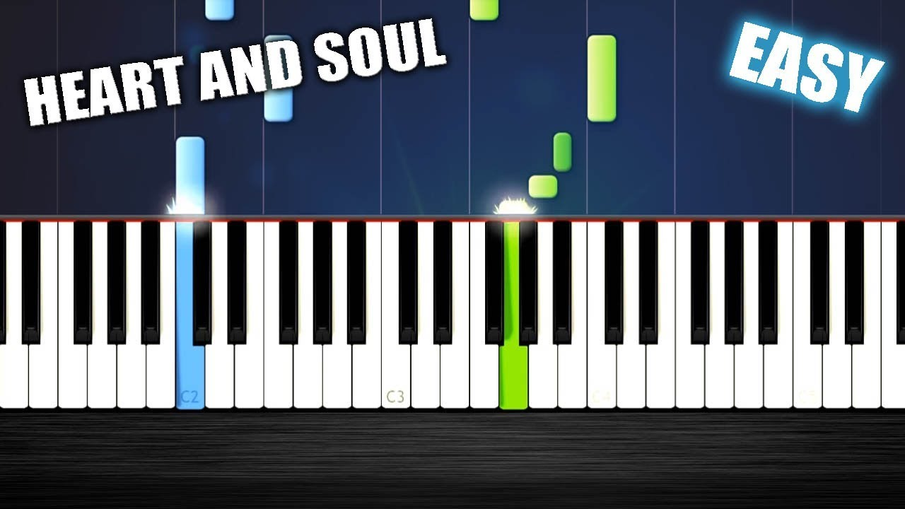 Heart And Soul Easy Piano Tutorial By Plutax Synthesia Youtube