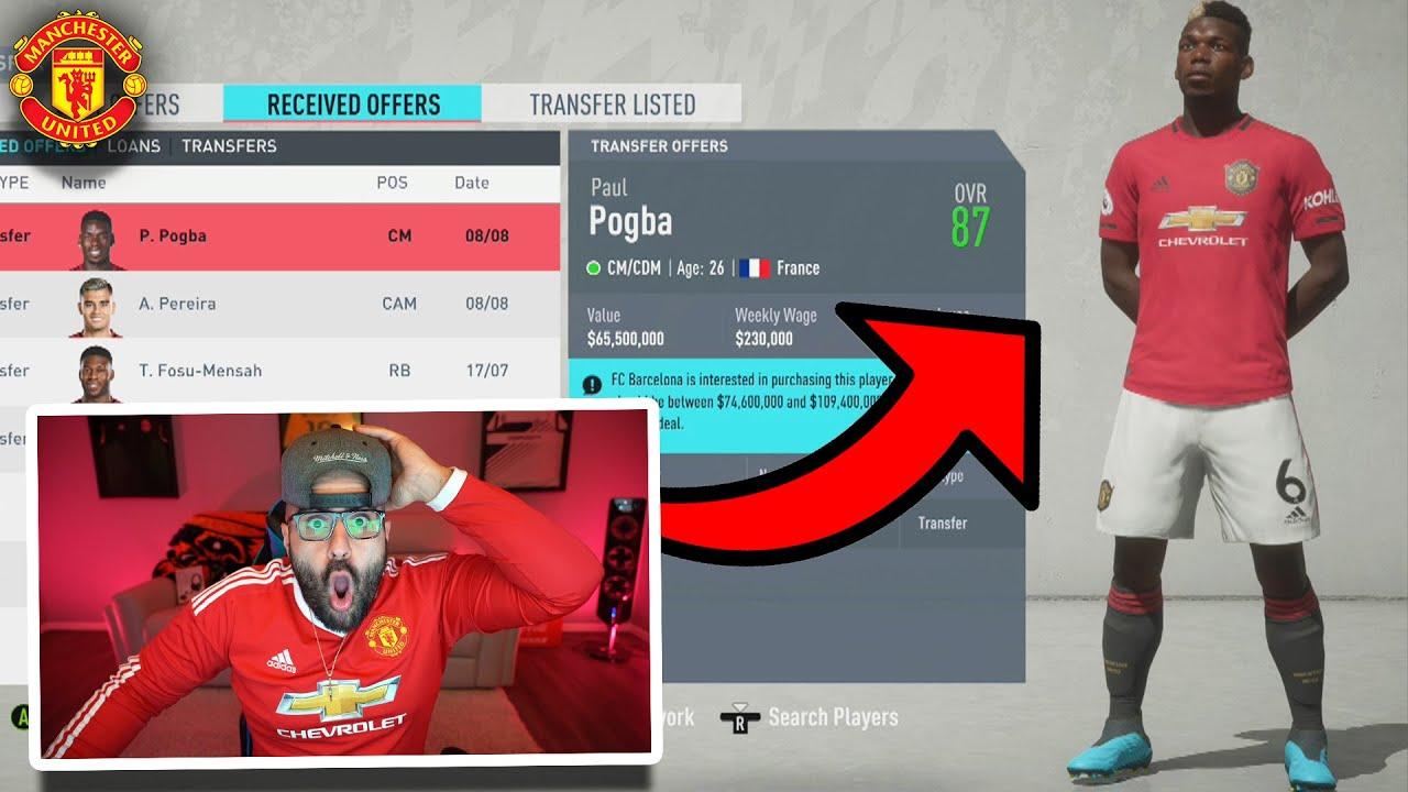 OMFG BARCA INSANE $100 MILLION POGBA OFFER! FIFA 20 Career Mode thumbnail