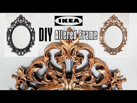 DIY Altered Ikea Mirror Frame Tutorial - Creating Vintage An
