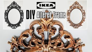Diy Altered Ikea Mirror Frame Tutorial Creating Vintage Antique Look Using Acrylic Paint Youtube