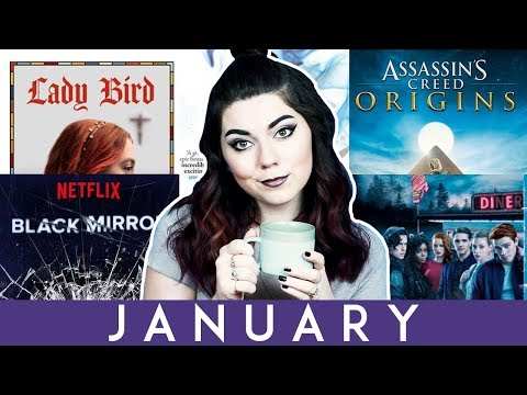 JANUARY ROUNDUP + tea vlog | MOVIES, SHOWS, BOOKS, MUSIC, AND VIDEO GAMES!