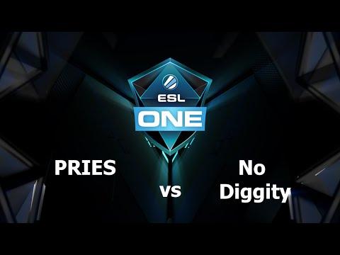 No Diggity vs PRIES Game 1 - ESL One Frankfurt EU - @TobiWanDOTA @MotPax
