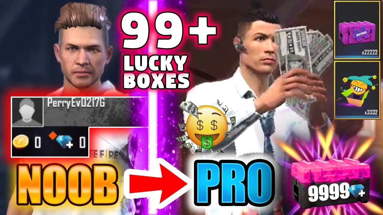 Free Fire new account to *PRO* boxes only 😱 look what I got 😱🔥