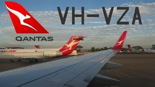 ONBOARD Qantas Boeing 737-838 [VH-VZA] | Takeoff at Brisbane Airport