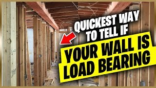 The fastest ways to tell if your wall is load bearing or not!