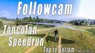 Followcam Zoncolan Speedrun / Top to Bottom / #Hanggliding