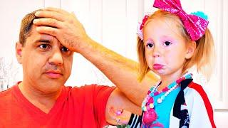 ناستيا تريد أن تذهب إلى السينما مع والدها, قصص عربية للاطفال