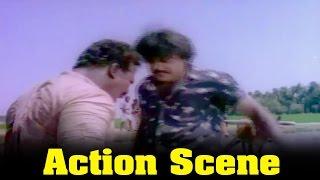 Ponmana Selvan Movie : Vijayakanth Fight Scene