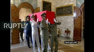 Live from the funeral of Tunisian President Essebsi