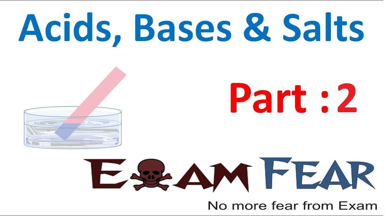 worksheet Note Taking Worksheet Acids Bases And Salts chemistry acid base salts part 2 bases class 7 vii youtube vii