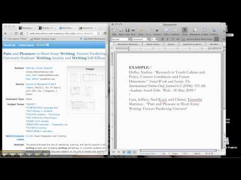 How to CITE an online journal article?