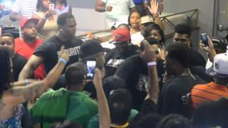 "KEVIN GATES jumps into crowd  ""Indianapolis Bikini Boxing """