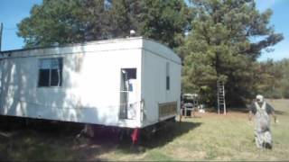 moving a mobile home and setting it up