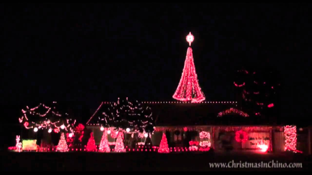 santa claus is coming to town 2009 christmas lights chino california the pointer sisters