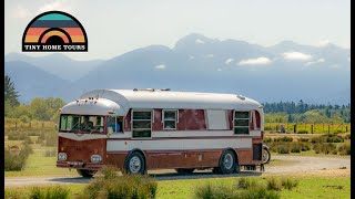 Vintage 1957 Kenworth School Bus Conversion With A Slide Out - Totally Custom DIY Skoolie