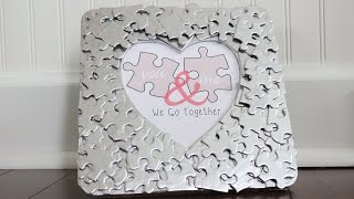 Diy Valentine's Day Puzzle Piece Heart Photo Frame | Free Printable