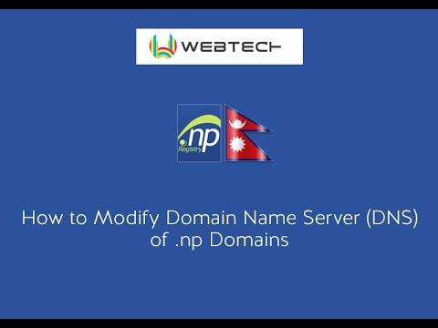 How to Modify Domain Name Server (DNS) of .np Domains
