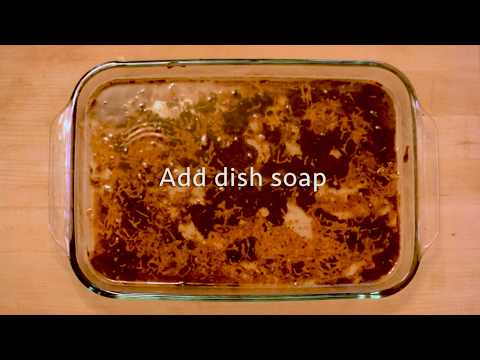 DIY How to Clean your Burnt Glass Pan- Kitchen Hack