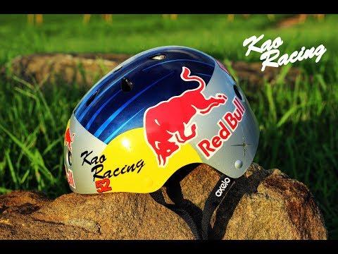 Red Bull helmet painting 紅牛自行車安全帽