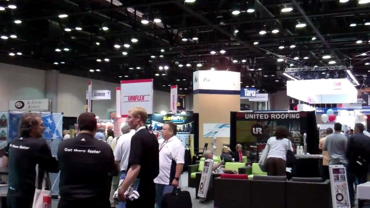 International Roofing Expo Trade Show Floor February 22