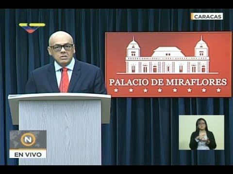 Rueda de prensa de Jorge Rodríguez, ministro de comunicación venezolano, 18 mayo 2018