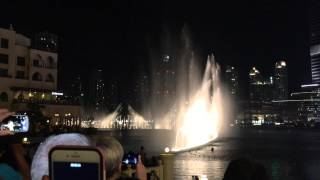 Dubai Water fountain - Elissa Aa Bali Habibi (Arab Song)