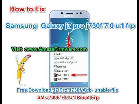 Samsung Galaxy J7 Pro J730f 7 0 Nougat (U1) Frp 100% Done