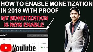 How is youtube monetization enable on new channel 2018, my monetization is now enable