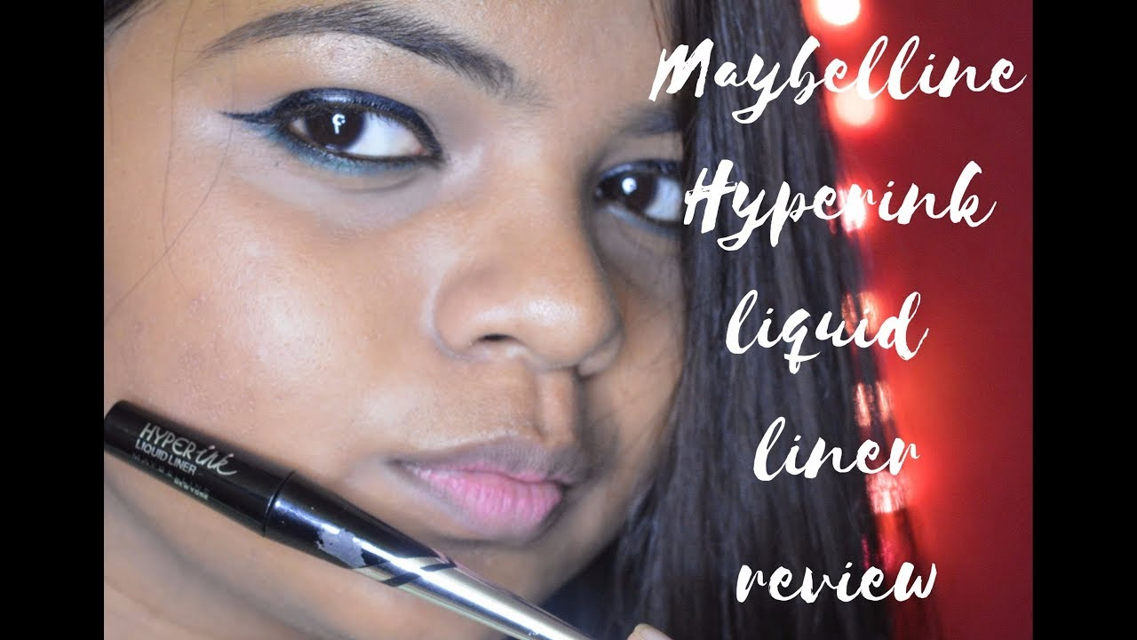 Maybelline Hyperink Liquid Liner Review Hindi India Youtube Hyper Ink