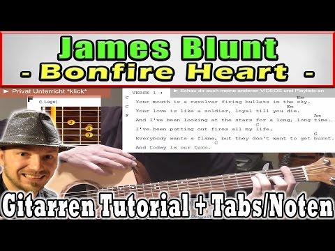 ★James Blunt BONFIRE HEART   TABS CHORDS Akustik Gitarre Tutorial